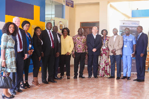 Prof Emmanuel Ohene Afoakwa (5th R) in a group photograph with dignitaries at the meeting
