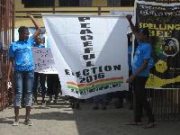 Participants on a peace march