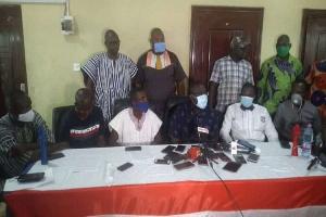 Some NPP executives from the five northern regions addressing the media