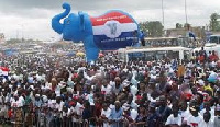 Some member of the NPP during a party rally