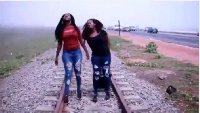 The sisters at a railways station in Ghana couldn't get a train to board.