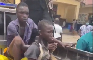 The two teenage boys who murdered a 10-year-old boy in Kasoa for rituals