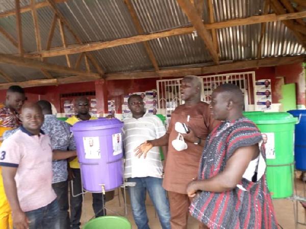 NPP Chairman donates coronavirus items to seven constituencies