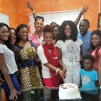 Miss Ghana team together with Sherifa Gunu joined Rebecca Asamoah to cut her birthday cake.