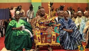 Asantehene Otumfuo Osei Tutu with Northern Chiefs
