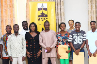 Dr. Dominic Eduah  (Executive Secretary GNPC) with some of the beneficiaries