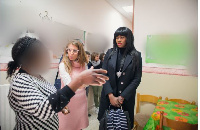 One of the victims of human trafficking in Italy shares her story with actress, Stephanie Linus