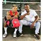 Boxer Duke Micah with Carl Lokko