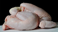 A thawed whole chicken