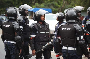 Some personnel of the Ghana Police Service