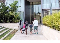 Kwaw Kese with his children and wife