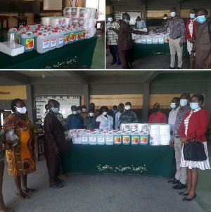 The 1992 Year-Group of Chemu SHS donated the items to help the fight against coronavirus