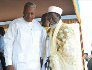 Former President Mahama and the Chief Imam, Sheikh Osman Nuhu Sharubutu