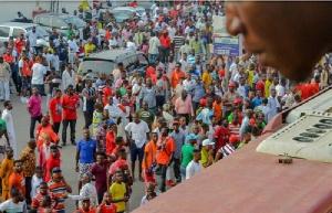 Asante Kotoko fans at the Baba Yara Sports Stadium