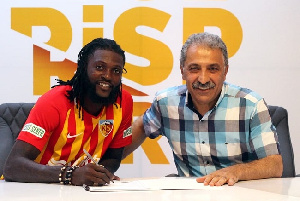 Adebayor has signed a one-year deal with the Turkish side