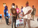 The items were donated included soap and sanitizers