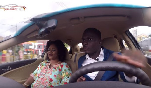 Obaapa Christy with blogger Zion Felix