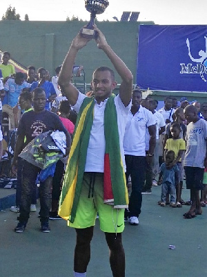 2017 McDan Open winner, Thomas Sethodji
