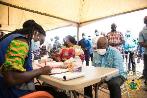 Akufo Addo Registration With Wife.