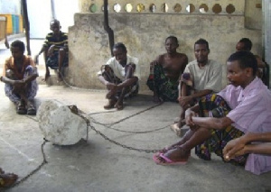 File photo: Some mentally challenged persons chained