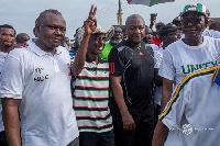 Former President John Mahama in one of the unity walks