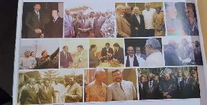 Former President Rawlings in photographs of world leaders he met in his lifetime