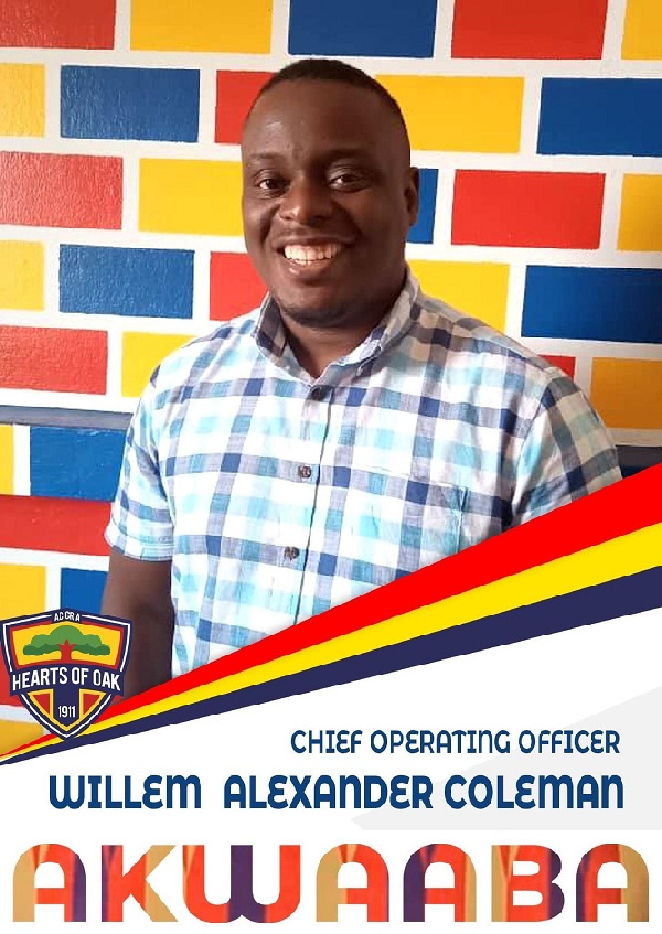Hearts of Oak names Alexander Coleman as Chief Operations Officer