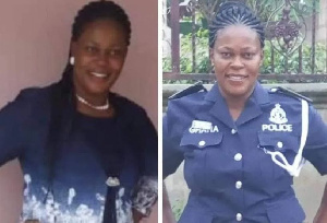 A female police inspector lost her life in a road accident at Amasaman