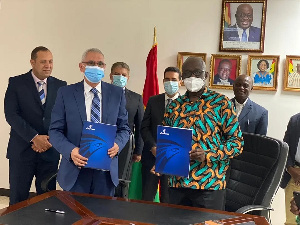 Ghana on Wednesday October 21, 2020 signed a MoU with EgyptAir