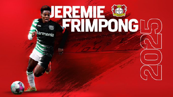 Official: Bayer Leverkusen announce signing of Ghanaian defender Jeremie Frimpong