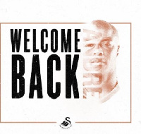 Andre Ayew has reunited with his brother at Swansea