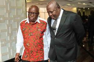President Akufo-Addo and Martin Amidu