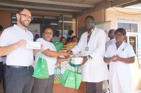 Advans Ghana Savings and Loans donated some items to the La General Hospital