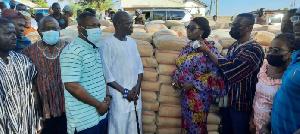 Abla Dzifa Gomashie did the donation on behalf Mahama