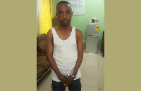 Isaac Coffie after he was arrested