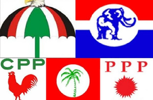 File photo of some political parties in Ghana