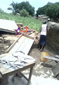 A number of houses fell flat in the disaster