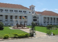 Front view of Ghana's Supreme Court