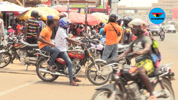 GhanaWebRoadSafety: Vehicle drivers treat us like non-entities on the roads - Okada Riders