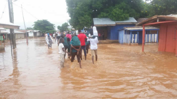 A photo of a flooded area