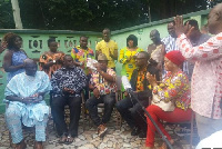 Mr. Kwaku Twumasi, Dora Kwarteng and Mary Afriyie Forson were visited at their various residence