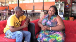 Abigail Namoose with SVTV's DJ Nyami