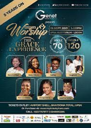 Women in worship, in my opinion, is currently the biggest gospel event in Ghana