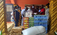 Tema West Municipal Assembly donated food items to the Nungua and Tema Traditional Councils