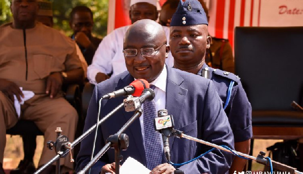Dr Bawumia addressing the Speech and Prize Giving Day at TAMASCO