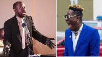 Combination photo of 'lawyer' Nti (l) and Shatta Wale
