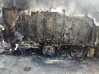 The burnt truck