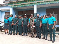Some immigration officers in a group photograph