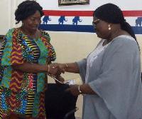 Madam Rita Talata Asobayire (L)