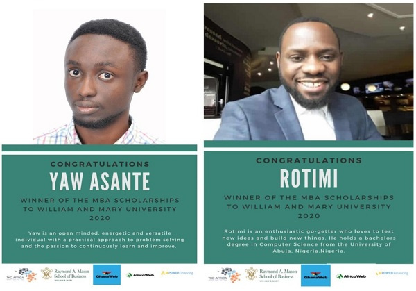 Ghanaian and Nigerian professionals win MBA scholarships to top US university